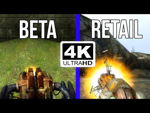 Half-Life 2 - Retail vs. 2001 Beta - Weapons Comparison 4K 60FPS