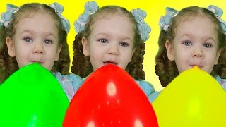 Princess Liza and magic balloons - Colors Song - Nursery Rhymes & Kids Songs from Kids Liza