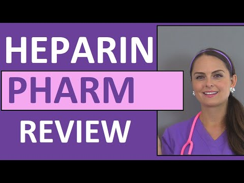 Heparin (Anticoagulant) Nursing NCLEX Review: Pharmacology, Intervention,  Patient Teaching