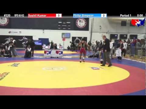 Schultz MFS 66 KG Semifinal: Sushil Kumar (India) vs. Philip Simpson (U.S Army)