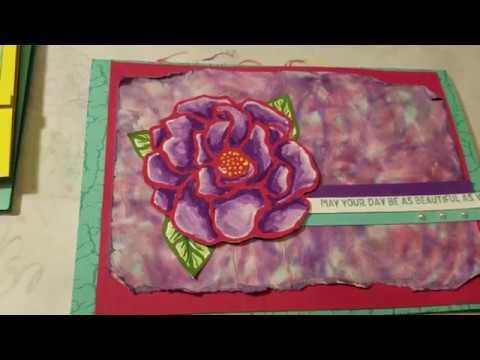 Easy Tie Dye Marker Paper Craft Technique