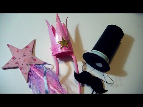 Tutorial como hacer una coronita de princesa con varita magica y un sombrero ...