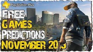 PS PLUS November 2019 Predictions | PS4 Free Games November 2019