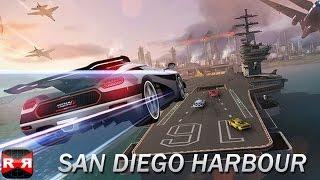 Asphalt 8 - iOS Exclusive Metal Event - San Diego Harbour Gameplay Video