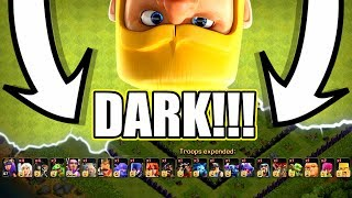 EVERY SINGLE TROOP TURNED DARK!! - Clash Of Clans