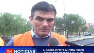 ALCALDÍA  ASFALTA AV. GRAN CHACO CON INVERSIONES DE BS 2 MILLONES