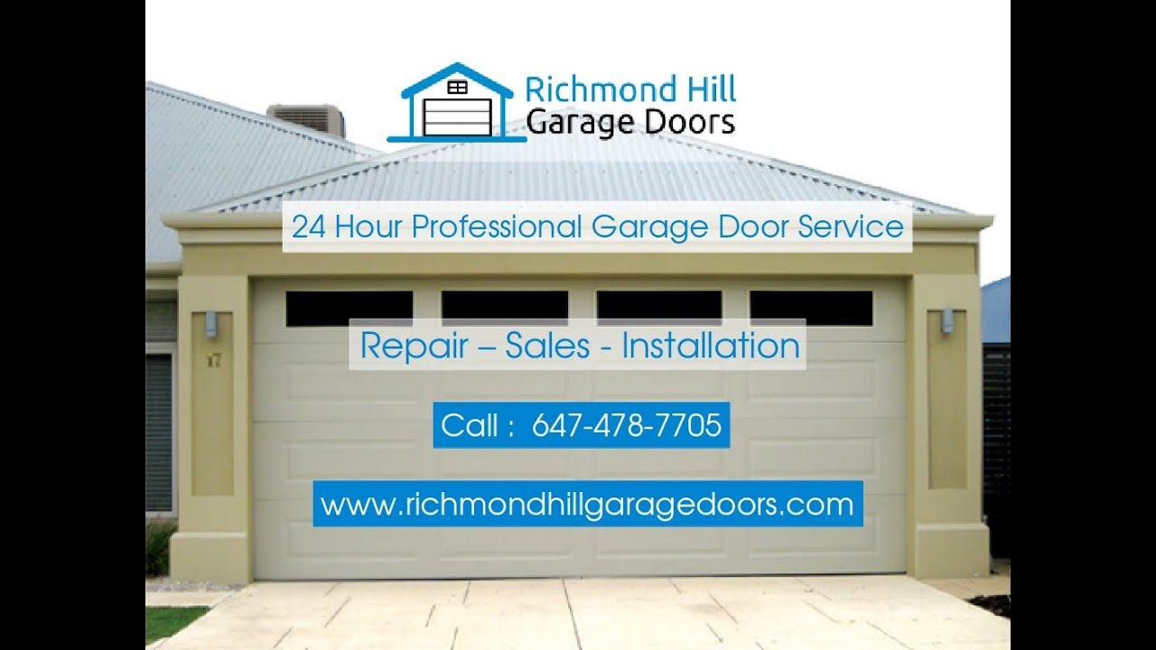 Richmond Hill Garage Door Repair 647 478 7705 Local Trusted