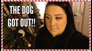 THE DOG GOT OUT!! | Vlogmas Day #2