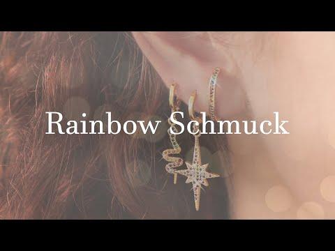 EIN MUSS: Zirkonia Rainbow Schmuck