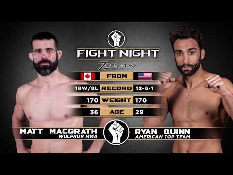 """Fight Night 2: Medicine Hat - Ryan """"Mighty"""" Quinn vs Matt """"the Belt Collector"""" MacGrath"""