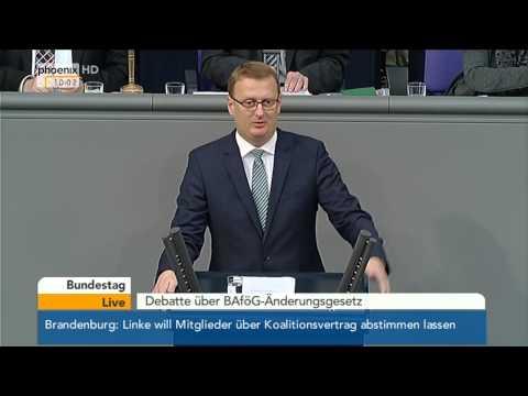 Bundestag: Debatte zur Änderung des BAföG mit Johanna Wanka am 09.10.2014