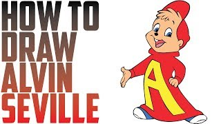 How to Draw Alvin And The Chipmunks Characters - Alvin Seville By Drawing Expert