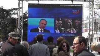 Онлайн пресс-конференция Путина В.В. в Севастополе