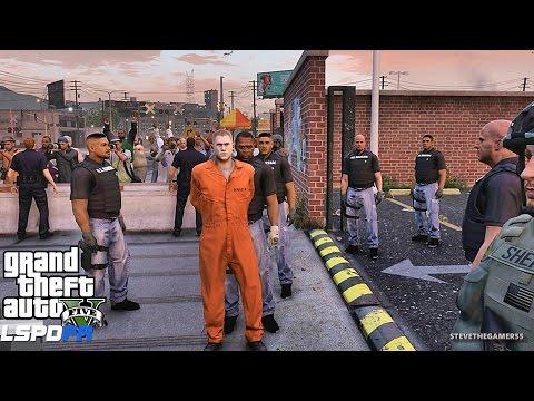 GTA 5 LSPDFR 0.3.1 - EPiSODE 313 - LET'S BE COPS - U.S. MARSHALS (GTA 5 PC POLICE MODS) PRISON BREAK
