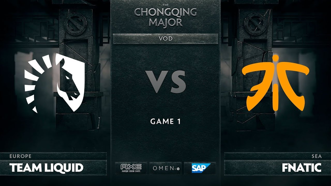 [EN] Team Liquid vs Fnatic, Game 1, The Chongqing Major LB Round 3