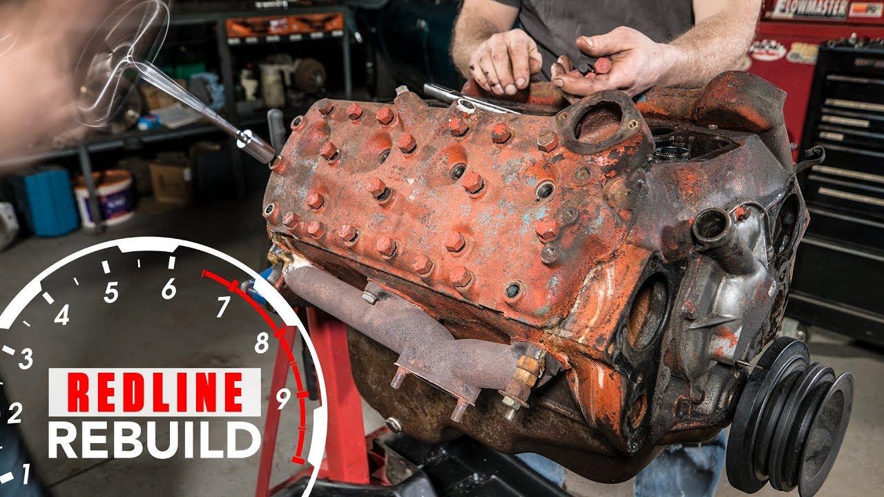 ford flathead v8 engine rebuild time lapse redline rebuild s1e2 [ 1280 x 720 Pixel ]