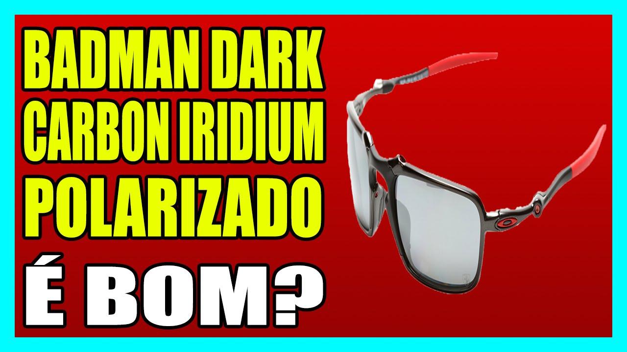 ÓCULOS OAKLEY FERRARI BADMAN DARK CARBON - IRIDIUM POLARIZADO - YouTube caf5c7cbe6