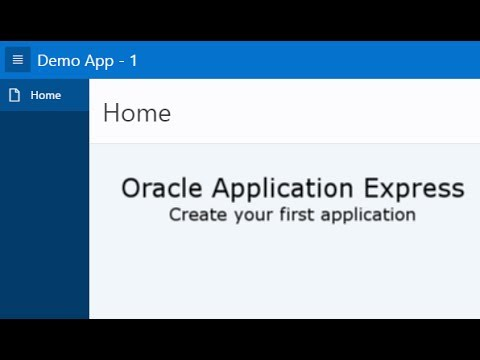 Oracle Application Express - Creating an Application