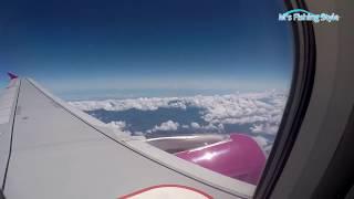 時速700キロ?の飛行機がすれ違う瞬間!着陸30分前の出来事@Peach 関西(KIX) → 高雄(KHH)