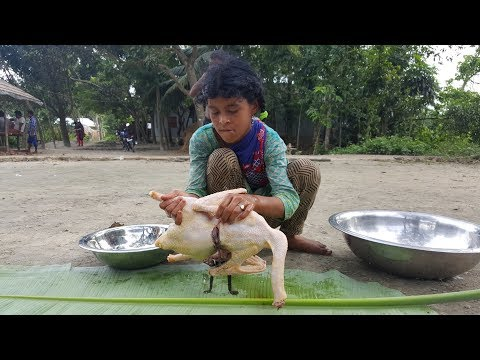 White Swans Cooking By Children Of Village For Their Picnic Food – Tasty Duck Curry
