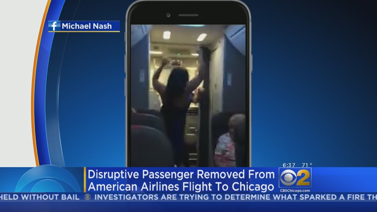 Disruptive Woman Removed From Flight To Chicago
