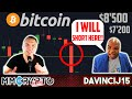 DavinciJ15 - Bitcoin CRASH!!  $8'500? $7'200?? WHAT to do??