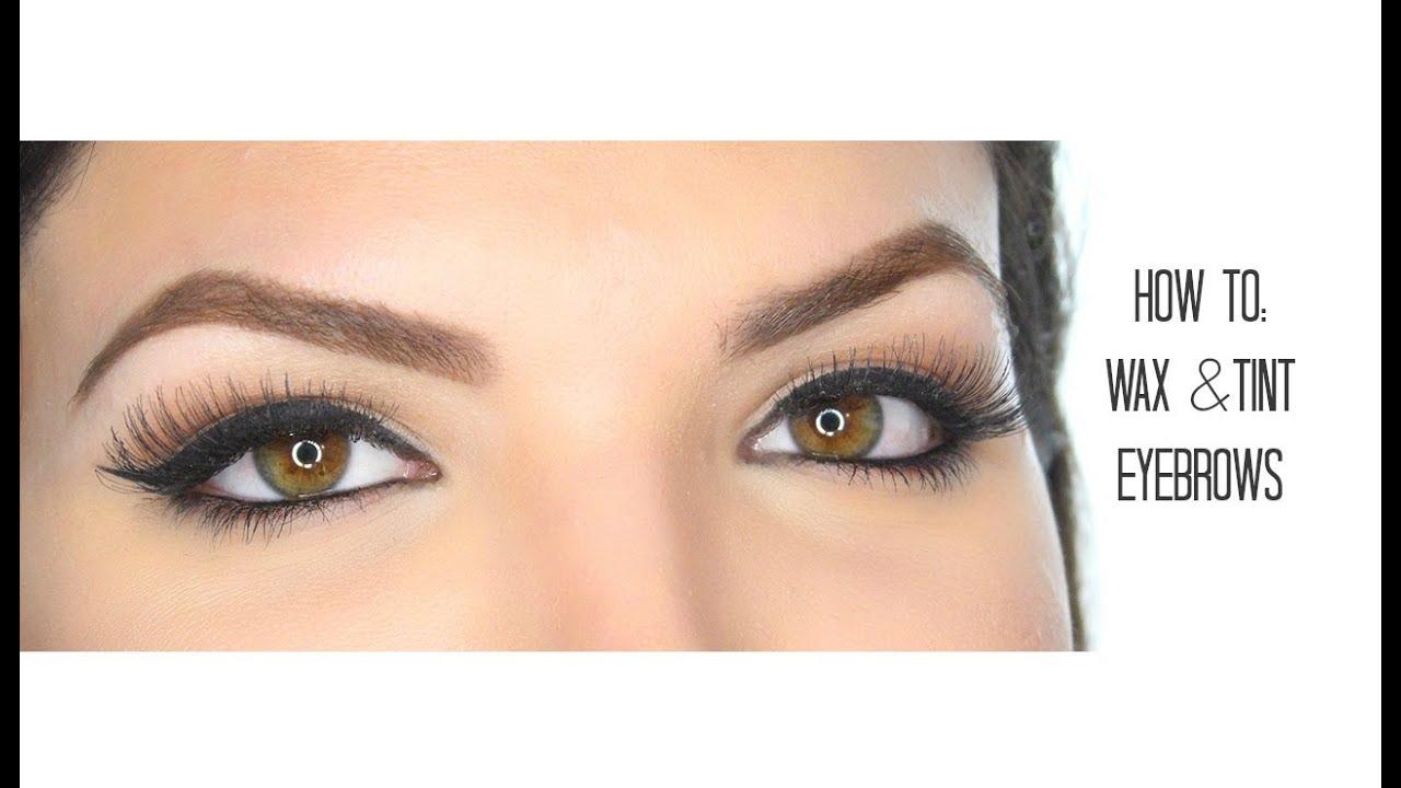 How To Tint Wax Eyebrows Youtube
