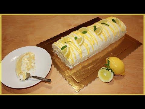 Ginger Lemon Cake Roll