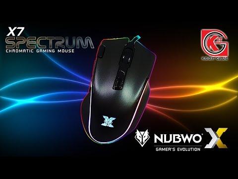 รีวิวเมาส์ NUBWO X-SERIES มาโคร RGB รุ่น SPECTRUM X7