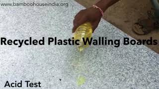 Recycled Plastic Walling Boards (Acid Test)