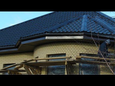видео: 2014-4. Карнизный свес крыши. Подшивка карниза софитами