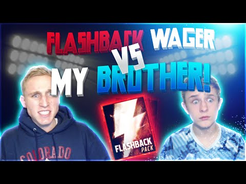 GUESS WHO!? FLASHBACK WAGER Vs. My Brother!? Madden Mobile