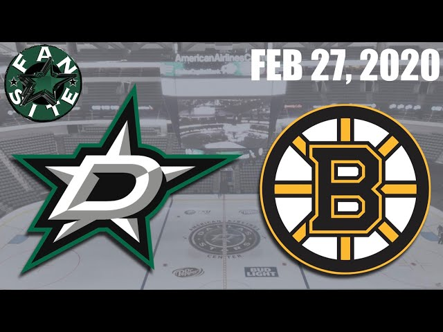 Dallas Stars @ Boston Bruins | Feb 27 2020