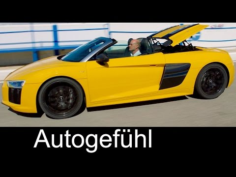 Audi R8 Spyder V10 Sound/Exterior/Interior Preview convertible roof all-new gen neu racetrack