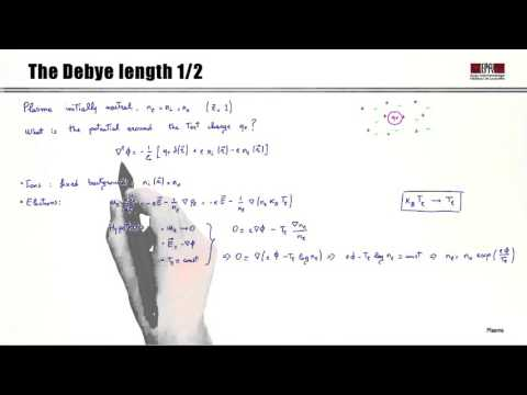 1b Rigorous definition of plasma: Debye length
