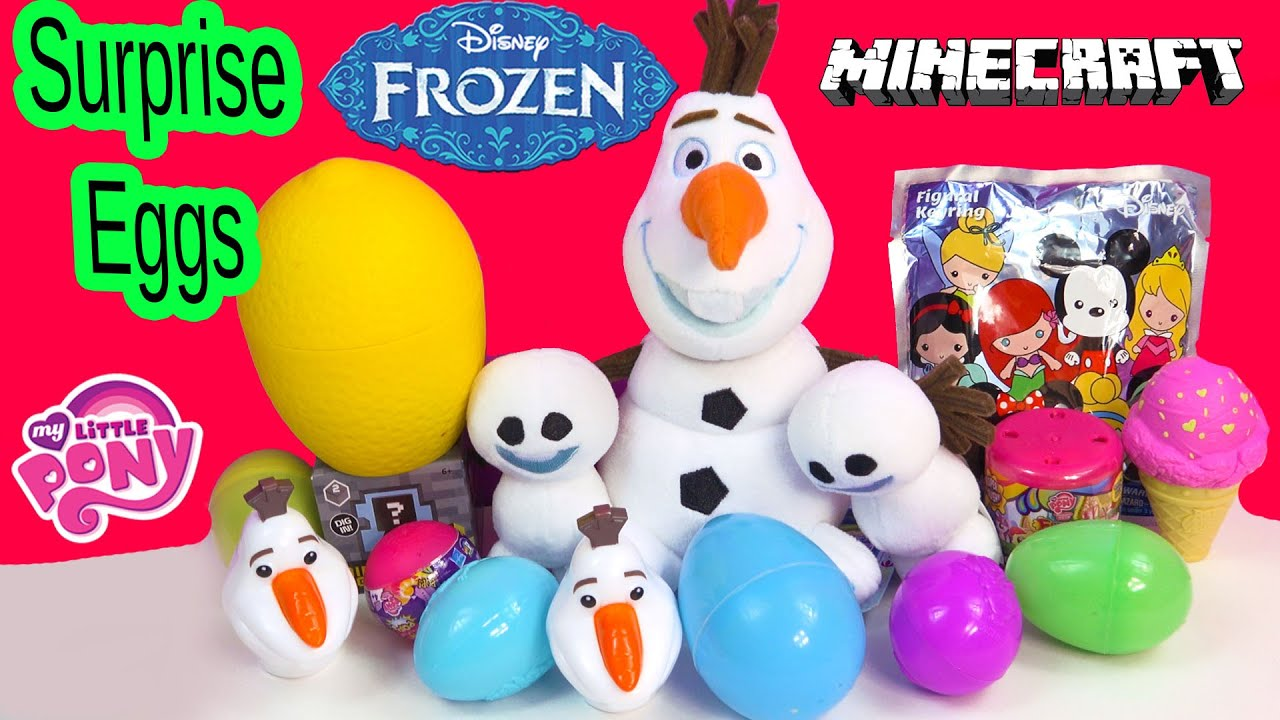 Squishy Pops Blind Bags : Disney Frozen Snowgies & Surprise Eggs Blind Bag Toys My Little Pony Fash ems Squishy Pops ...