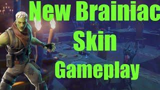 Fortnite New Brainiac Skin Gameplay