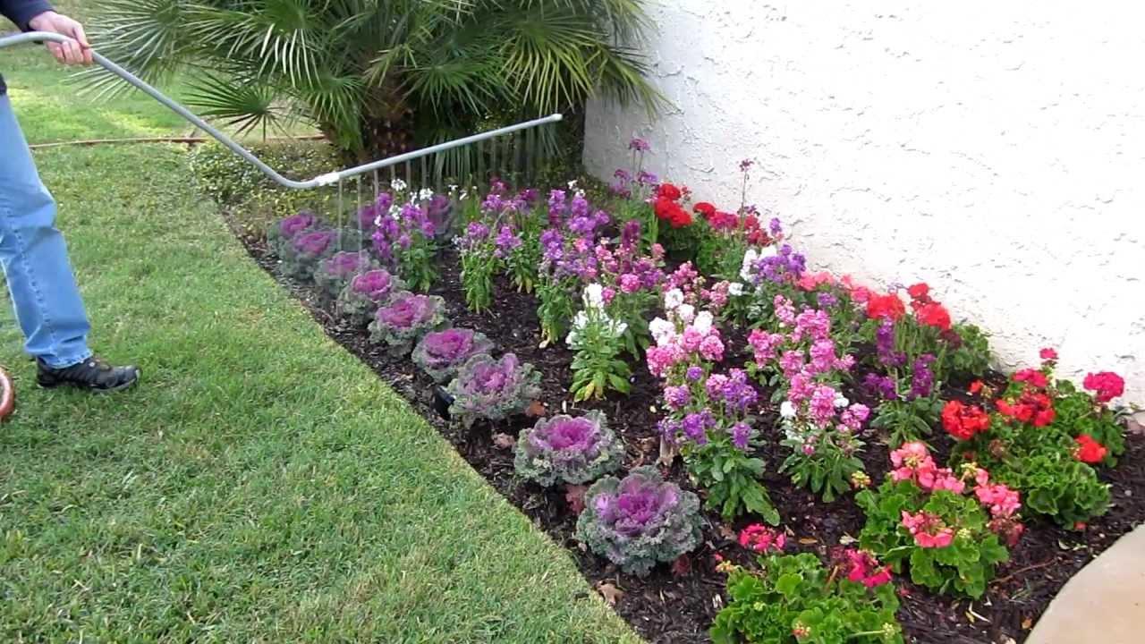 water beautiful flower beds
