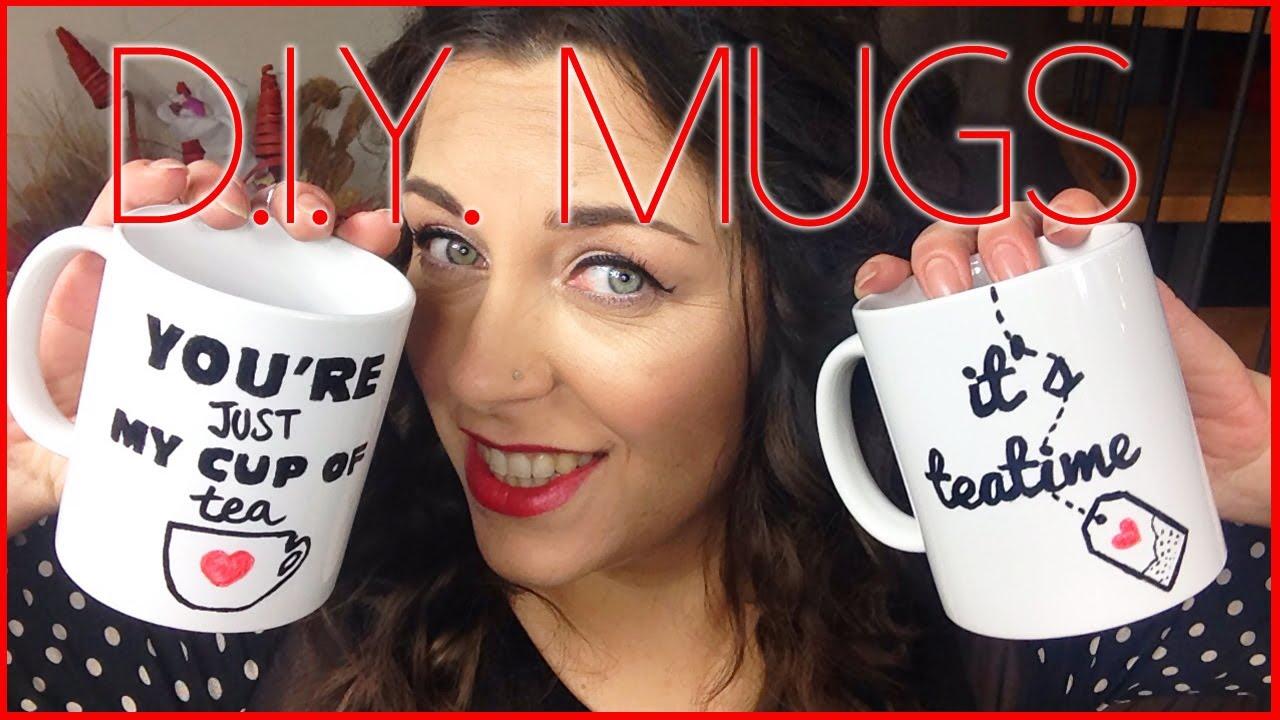 Tazza Personalizzata Fai Da Te d.i.y. decorated mugs ♡ tazze decorate fai da te