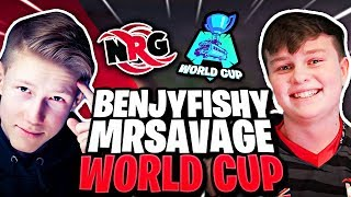 MrSavage and Benjy Fortnite World Cup HYPE montage |1st Place highlights|MrSavage Perspective