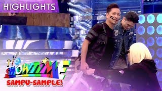 Jhong gets stuck in a chair | It's Showtime Sampu-Sample