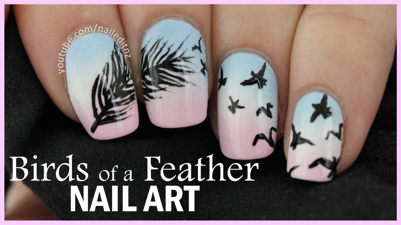 - Birds Of A Feather Nail Art Gradient - YouTube