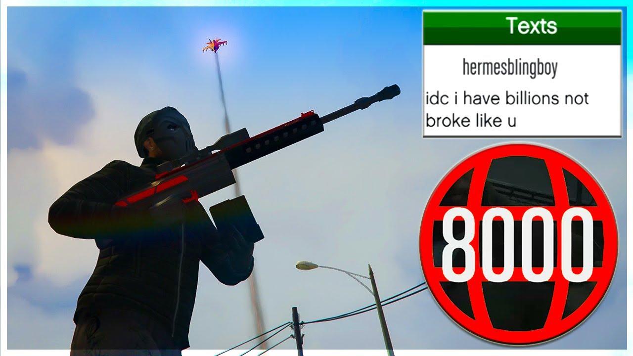 Toxic Rank 8000 Tryhard Orbital Strikes Me But Instantly Regrets It On GTA 5 Online