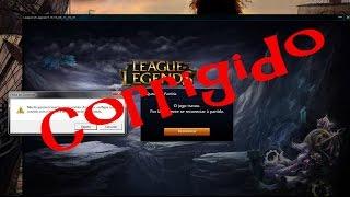 Resolvendo o erro: seu jogo travou, tente reconectar no league of legends