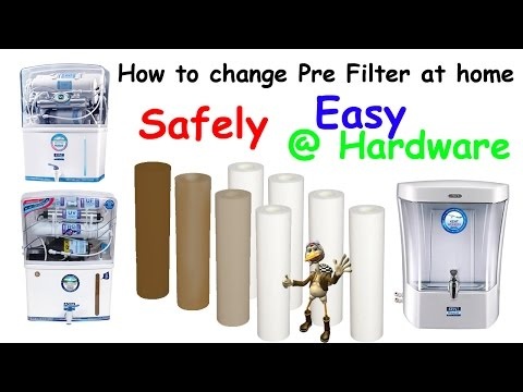 How to Service of RO Pre filter at home