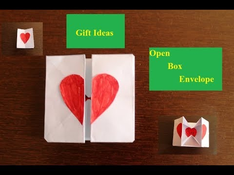 DIY - Envelope Paper heart Card Gift || Make for Husband/Wife