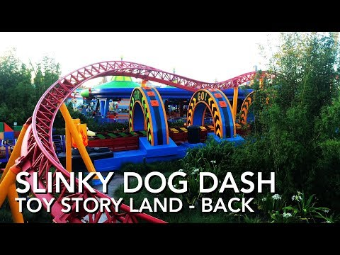 Slinky Dog Dash - Toy Story Land - Hollywood Studios - Back - Full Ride - [4K]