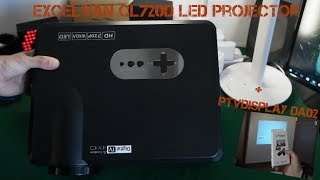 Excelvan CL720D LED Projector + PTVdisplay DA02 (Unboxing - Review)