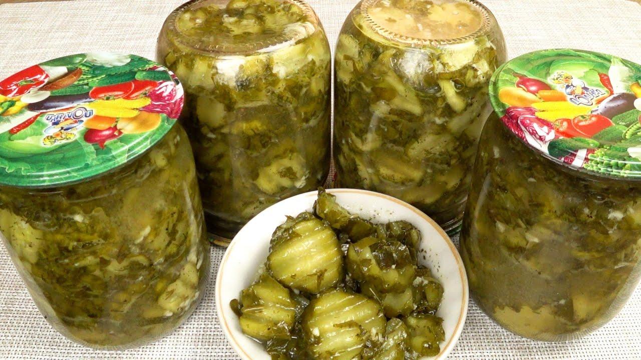 Огурцы с чесноком на зиму. Острая закуска | Cucumbers with garlic for the winter. Spicy appetizer