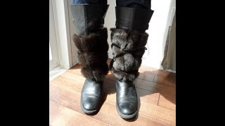 How to make fur boot cuffs - OWIMO Design Upcycling Thumbnail